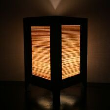 Asian Oriental Wood Lamp Shades Thai Vintage Cream Bamboo Handmade Home Decorate