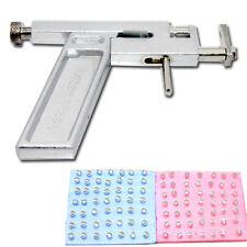 Professional Steel Ear Nose Navel Body Piercing Gun 98pcs Studs Tool Kit Set