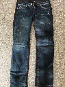 Bogner Janna Distressed Denim Print Ski Pants (For Women).Size:8 Long.NWT