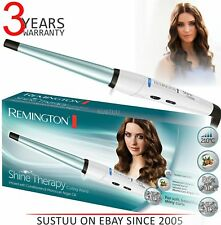 Remington Shine Therapy Conical Ceramic Hair Curling Wand with Argon Oil New