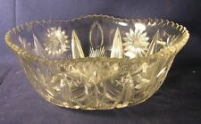 Pairpoint cut glass oval bowl LeRoy Le Roy pattern American brilliant period A