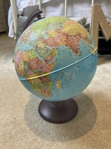 large world globe on stand