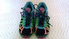 ASICS Gel Noosa Tri 9 Running Shoes T458N Black Orange Green Women's Size 6 NICE