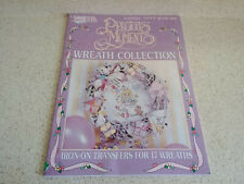 Precious Moments Wreath Collection Leaflet 1777 Leisure Arts 17 Iron-Ons 1997