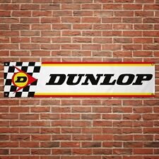 Dunlop Tyres Banner Garage Workshop Motorcycle PVC Sign Trackside Display
