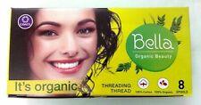 Set Ensemble 8 Bobine Bella Vert Sourcil Filetage Coton Bio Fil Hair Removal