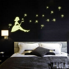 Leuchtende Wandtattoo Aufkleber Glühen Löwenzahn Mädchen Wand Abziehbild PAL