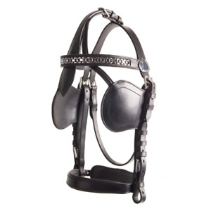 IDEAl EQUESTRIAN LUXURY LEATHER DRIVING BRIDLE