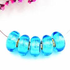 5pcs MURANO Lampwork charm Beads fit 925 silver European Bracelet Chain a287