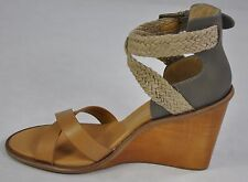 Dolce Vita New Jarona Wedge Sandal Caramel Beige Leather Size 9.5 Retail $169