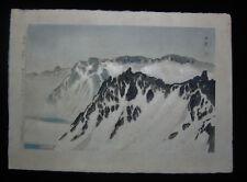 1935 Original Shusei Kobayakawa Japanese Woodblock of Mount Baekdu 1st Ed 30/300