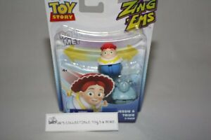 DISNEY PIXAR TOY STORY ZING EMS 2 PACK FIGURES JESSIE & TRIXIE NEW IN PACKAGE