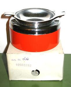Vintage 60s 70s Space Age Orange Metal Smokeless Flip Top Ashtray panton eames