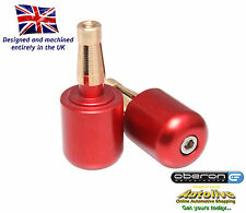 """Oberon large universal bar end weights (7/8"""" bar - Red) from Autolive Online"""