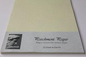 A5 OR A4 PREMIUM QUALITY 90gsm VELLUM PARCHMENT PAPER FOR ARTS & CRAFTS, SCHOOL.