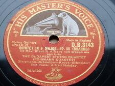 "78 rpm 3x12"" BUDAPEST STRING QTT + ALFRED HOBDAY brahms quintet op.88"