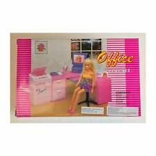 Gloria Barbie Size Doll House Furniture Office Play Set 96014
