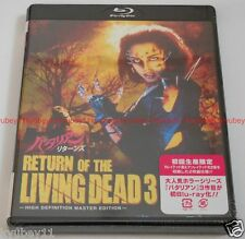 RETURN OF THE LIVING DEAD III 3 HD New Master Edition Blu-ray w/DVD Japan EMS