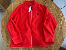 NWT $69 TOMMY HILFIGER Women Full Zip Polar Fleece Jacket Plus Size 2X Red