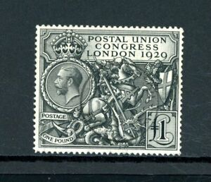 Great Britain 1929 PUC £1 Black  (SG 438) very fine used with c.d.s.     (O567)
