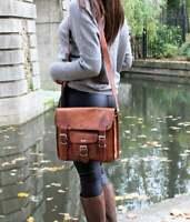 Genuine Vintage Brown Leather Messenger Shoulder Laptop Bag Briefcase New Men's