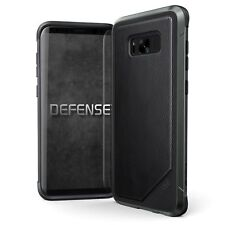 Samsung Galaxy S8 Plus Case, X-Doria Defense Lux - Black Leather