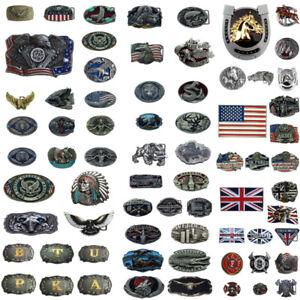 """Vintage Cowboy West Style 3D Patterns Zinc Alloy Pin Buckle For 1.5"""" Belt UK"""