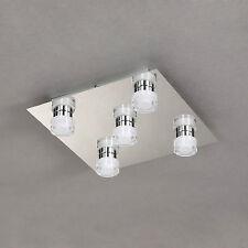 wofi LED Ceiling Light Lorient 5 Arms Chrome Acrylic Glass 20 Watt 2000 Lumens