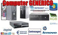 PC USATO GARANTITO PC FISSO VARI MARCHI Intel Core2duo  4 GB hdd 160 W7P