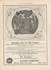 Christy Mathewson Marguerite Courtot 1913 Ad-Breaking Into The Big League/Kalem