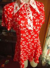 Small/M True Vtg 70s Polyester Max Print Acetate Polyester Mod Mini Skirt Dress