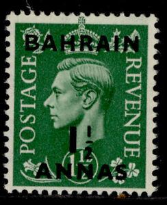BAHRAIN GVI SG73, 1½a on 1½d pale green, NH MINT.