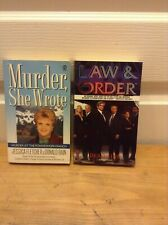 MURDER SHE WROTE and LAW & ORDER  - 2 Novels based on TV Shows