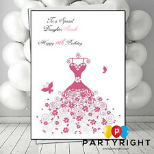 Personalised Daughter Sister Granddaughter Niece Dresses Birthday Card