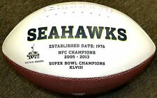 Seattle Seahawks Rawlings White Full Size Fotoball Autograph Football In Box