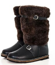 Unty Mens Russia Sheepskin Warm Wnter Boots Natural Leather Fur Hunting Fishing