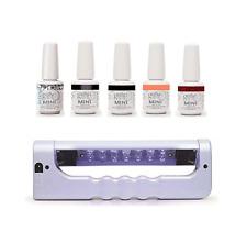 Gelish Mini Bottles 5 Color UV LED Gel Nail Polish Starter Kit w/ Portable Light