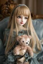 BJD Doll Wig 1/3 1/4 1/6 SD DZ DOC Pullip Blonde Brown White Short Curly Hair