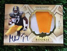 2009 EXQUISITE MIKE WALLACE ROOKIE JERSEY AUTO PATCH #/225 Steelers RC