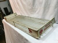 Vintage Schaefer Beer Display Metal Wire Rack Shelf Store Display 32inx12inx2in