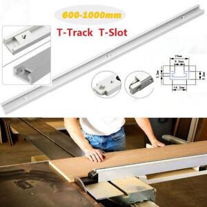 T-Track Miter Slot Slider Bar Table Saw Gauge Aluminium Woodworking 600-1000mm