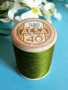 161B / Beautiful Coil Old Of DMC Thread Cotton Alsa N° 40 Green Foam N° 580