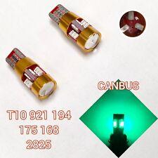 T10 168 194 2825 12961 w5w Green LED License Plate Light Bulb B1 For Chrysler A