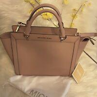 Michael Kors Brandi LG TZ Satchel Fawn Pink 38T9YI3S3L Purse Bag (FREE SHIPPING)