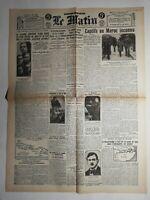N472 La Une Du Journal Le Matin 7 décembre 1927 captifs au Maroc inconnu