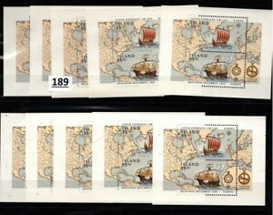 PS 10X ICELAND 1992 - MNH - EUROPA CEPT - SHIPS, COLUMBUS, MAP