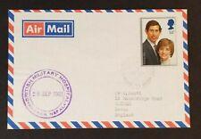 1981 Dharan Nepal Rare Datestamp British Gurkha Military Hospital Airmail Cover