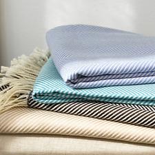 "Matouk Bedding Torino Throw 100% Wool 50"" x 70"" Aqua MSRP $195 C5002"