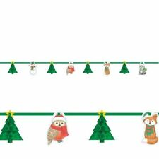 Christmas Winter Friends Honeycomb 3D Tree Garland Banner Party Decoration
