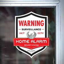 4 HOUSE ALARM SECURITY DECAL STICKER - Home Shop Security SURVEILLANCE WARNING